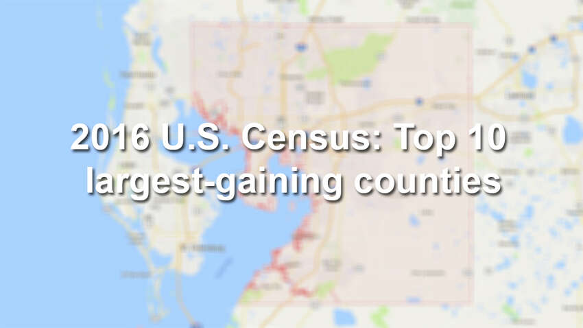 Keep scrolling to see the 10 largest-gaining counties, according to the 2015-2016 U.S. Census. Source: U.S. Census Bureau