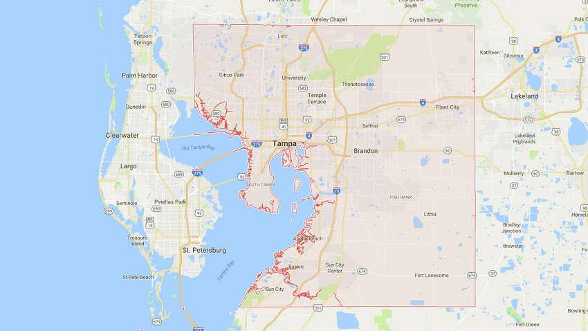 10. HILLSBOROUGH COUNTY, FLORIDA Population:1,376,238 Numeric change:29,161 Percent change:2.16 Source: U.S. Census Bureau