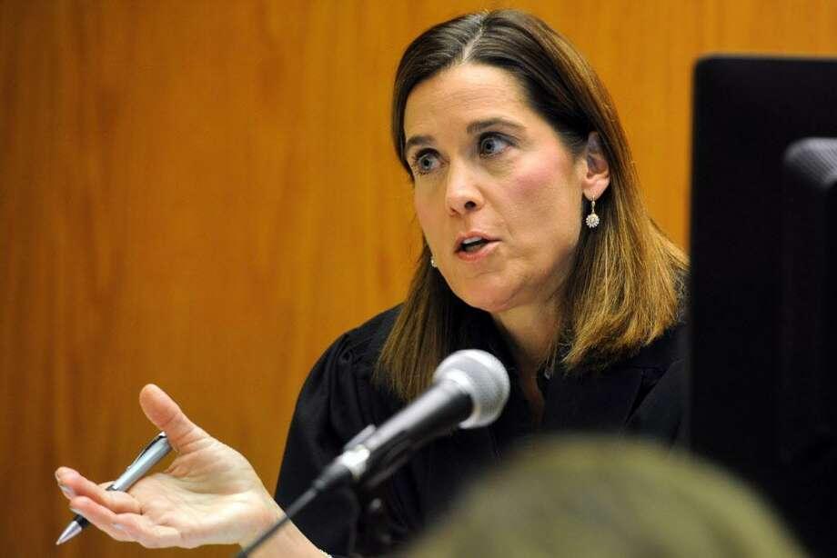 Judge Barbara Bellis in Superior Court, in Bridgeport, Conn. Feb. 22, 2016. Photo: Ned Gerard / Hearst Connecticut Media / Connecticut Post