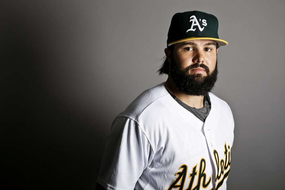 This is a 2017 photo of left fielder Jaff Decker of the Oakland Athletics baseball team poses for a portrait. This image reflects the Athletics active roster as of Wednesday, Feb. 22, 2017, when this image was taken. (AP Photo/Chris Carlson) Photo: Chris Carlson, Associated Press