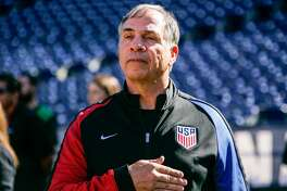 SAN DIEGO, CA - JANUARY 29:  Head coach Bruce Arena of the United States looks on during pregame warm-ups prior to their match against Serbia at Qualcomm Stadium on January 29, 2017 in San Diego, California.  (Photo by Kent Horner/Getty Images)