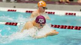 Texas A&M's Jonathan Tybur, competing at the 2017 SEC meet, has already beaten the odds by swimming competitively while fighting the incurable disease of ulcerative colitis. Now hes taking that fight all the way to the NCAA Championships.