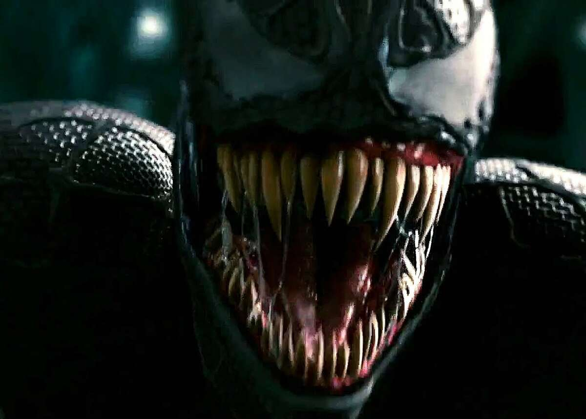 Venom, the alien symbiote who bonded first to Spider-Man (Tobey Maguire), then to Eddie Brock (Topher Grace), in