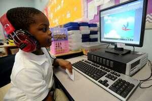 Classical Studies Academy kindergarten  in Bridgeport, Conn. on Thursday, May 29, 2013.