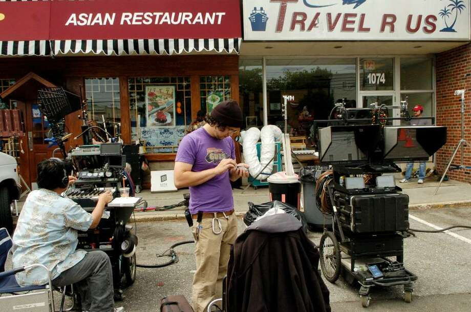 'We Need to Talk About Kevin' (2011)Pictured: Crews set up to film the movie in the Springdale Shopping Center in 2010. The drama was filmed in Spain, New York City Stamford and Norwalk. More on 'We Need to Talk About Kevin' Photo: Dru Nadler / Stamford Advocate