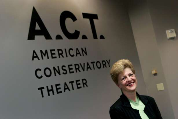 Carey Perloff, artistic director of the American Conservatory Theater, is pictured in the hallway outside her office, Monday, Feb. 23, 2015, in San Francisco, Calif.
