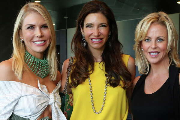 Lindsey Love, Melissa Mithoff and Elizabeth Peterson at the Houston Chronicle 35th annual Best Dressed Luncheon and Neiman Marcus Fashion Presentation on Thursday, March 23, in downtown Houston. (Annie Mulligan / Freelance)
