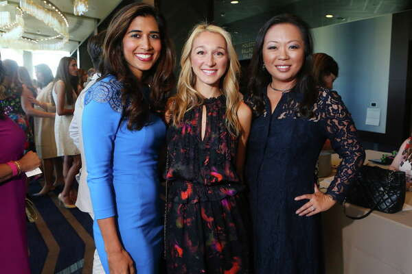 Divya Brown, Erin Stewart and Miya Shay at the Houston Chronicle 35th annual Best Dressed Luncheon and Neiman Marcus Fashion Presentation on Thursday, March 23, in downtown Houston. (Annie Mulligan / Freelance)