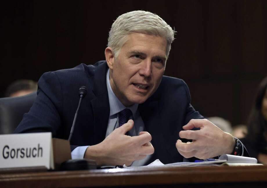 Supreme Court Justice nominee Neil Gorsuch testifies during his confirmation hearing before the Senate Judiciary Committee on Tuesday. He demonstrated expertise and independence. Photo: Susan Walsh /Associated Press / Copyright 2017 The Associated Press. All rights reserved.