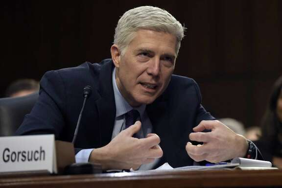 Supreme Court Justice nominee Neil Gorsuch testifies during his confirmation hearing before the Senate Judiciary Committee on Tuesday. He demonstrated expertise and independence.