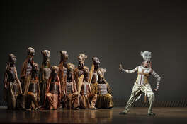 """A scene from Disney's """"The Lion KIng,"""" which opens at The Fox Theatre on April 19."""
