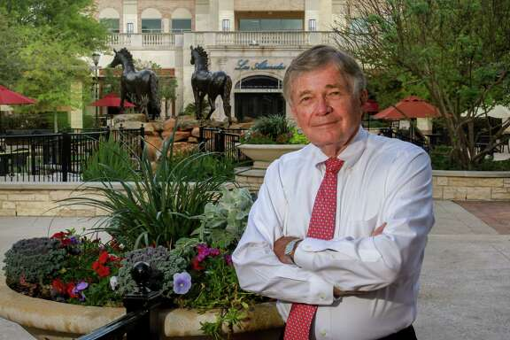 Woody Mann, president of Vista Companies, at Heritage Square in LaCenterra at Cinco Ranch. His largest development, the mixed-use development opened 10 years ago and sits on 34 acres, with more that 75 shops and restaurants. Mann has overseen the Vista Companies since it was founded as a small property management firm in 1985.  (For the Chronicle/Gary Fountain, March 22, 2017)