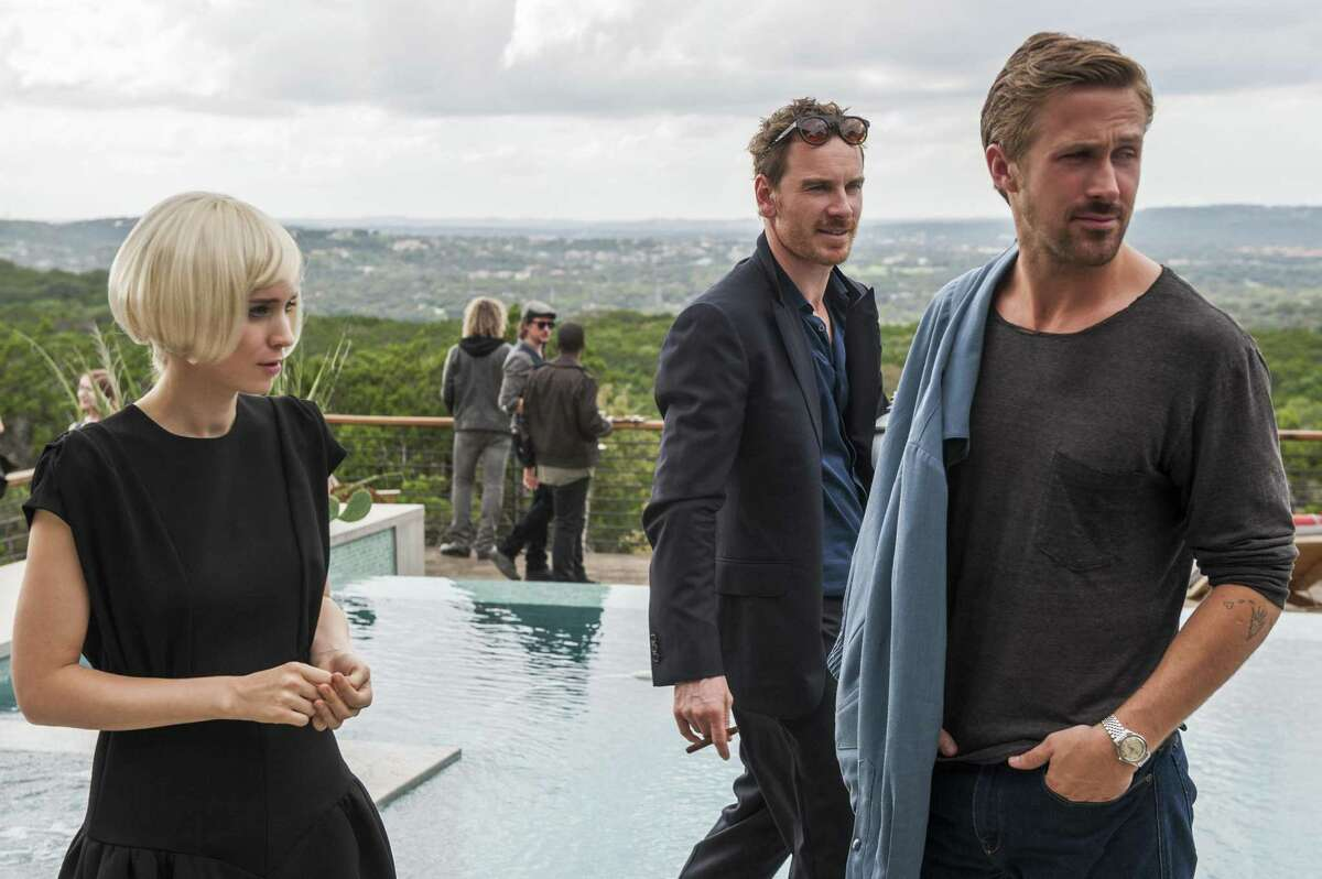 """Friends and lovers: Rooney Mara, Michael Fassbender and Ryan Gosling in """"Song to Song."""""""