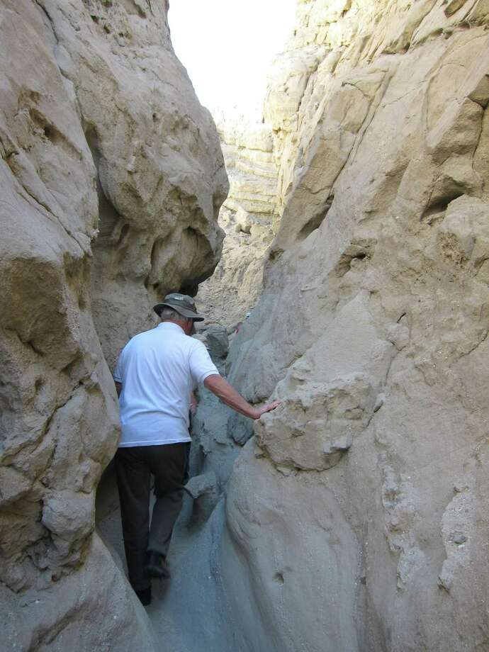 Hike slot canyons as part of a Red Jeep tour or on your own in the Coachella Valley. Photo: Robin Soslow / For The Express-News