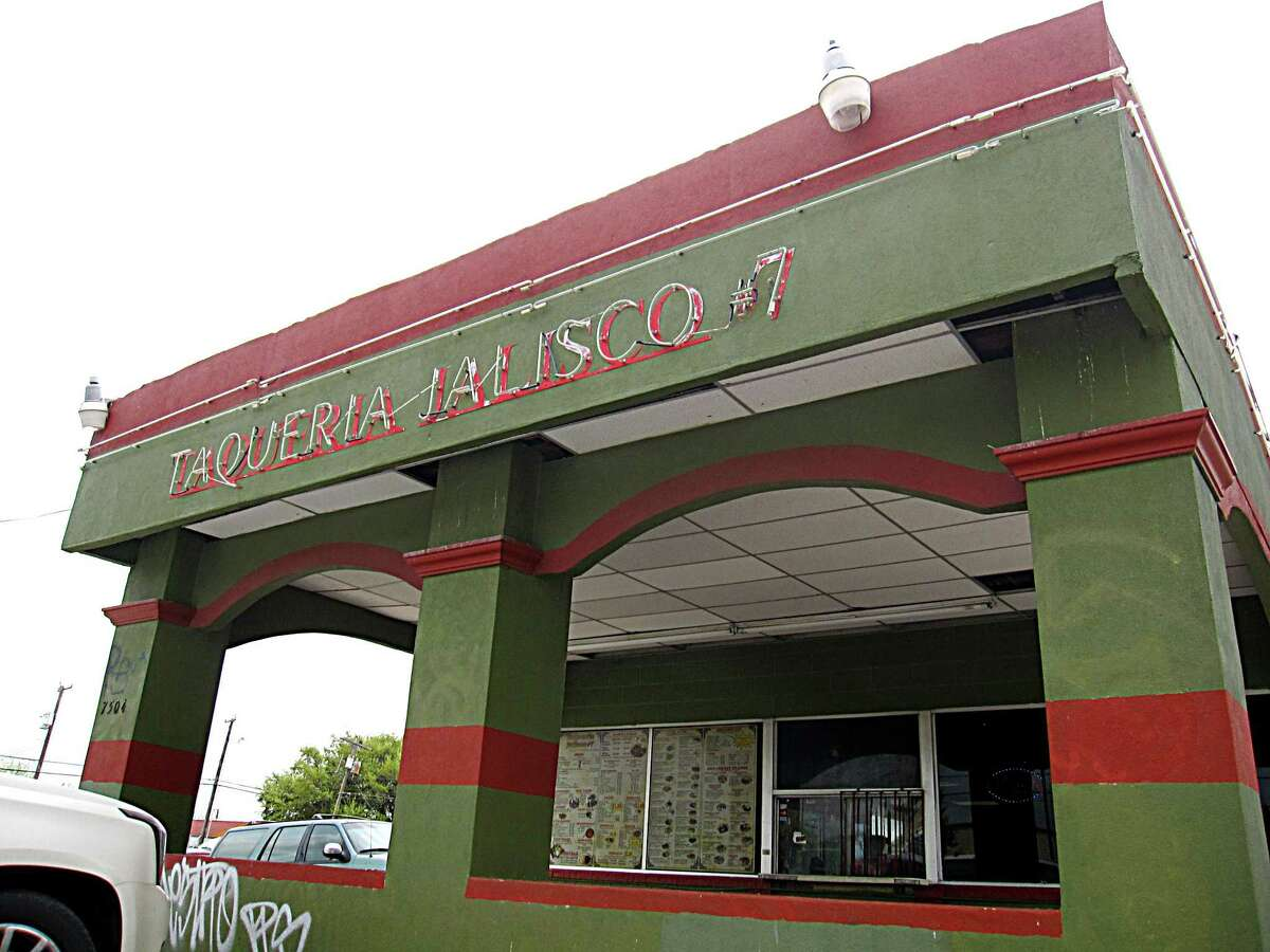 Taqueria Jalisco #7 on Marbach Road has a drive-through right out front.