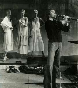 An oboist performs in San Francisco on Jan. 2, 1978.