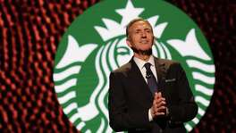 Starbucks Chairman and CEO Howard Schultz speaks at the annual shareholders meeting Wednesday. He's stepping down as CEO on April 2. He's turning over to his successor a company on stable footing, with a digital strategy that has made Starbucks a leader among brick-and-mortar retailers. And he's leaving a legacy of a company that strives to take care of its employees while taking on a range of social issues from race relations to the hiring of veterans and refugees.