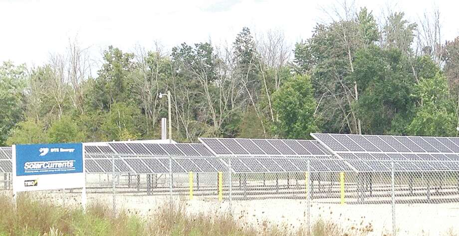 The only commercial solar farm in Tuscola County is on East Dayton Road, Caro, and it is jointly owned by DTE Energy and Thumb Electric Company, which is a co-op owned by over 12,000 members in Huron, Sanilac and Tuscola counties. Photo: Mary Drier/For The Tribune