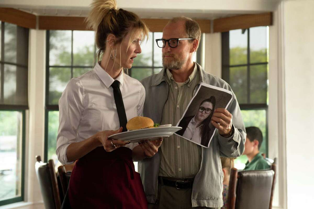 Laura Dern (left) and Woody Harrelson are a hoot together in