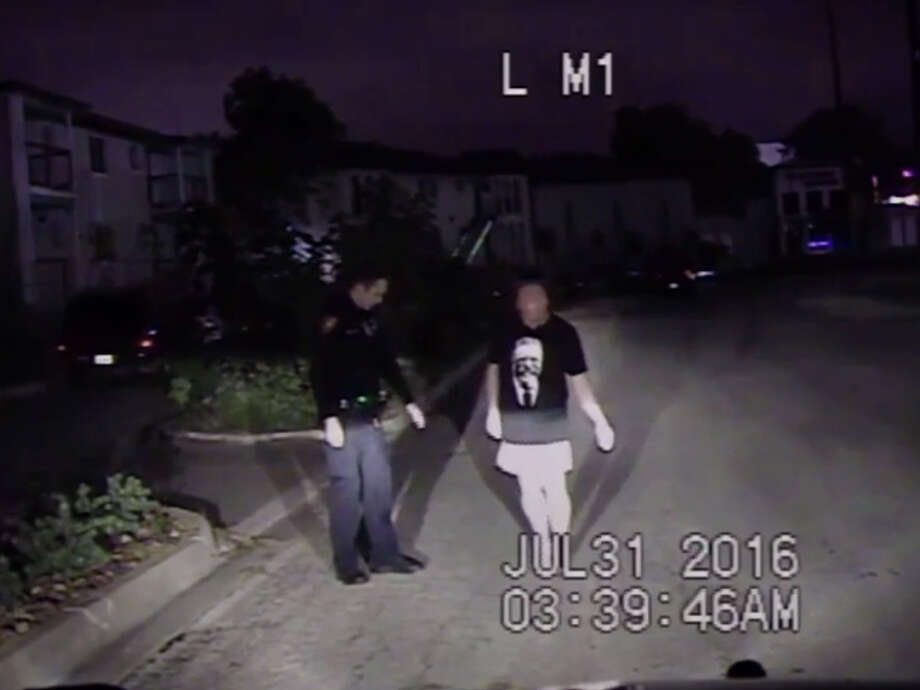 Dashcam footage obtained by mySA.com from the San Antonio Police Department shows Bexar County Commissioner Kevin Wolff participating in a sobriety test on July 31, 2016. Wolff pleaded no contest to driving while intoxicated on March 22, 2017, and was given a year's probation. Photo: San Antonio Police Department
