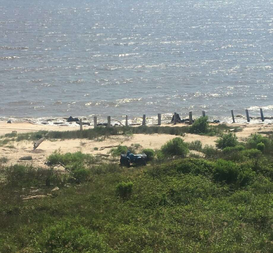 The Jefferson County Sheriff's Department reports finding a stolen four-wheeler at Sea Rim State Park, as well as 10 pounds of marijuana that appears to have washed up onto the beach. Photo: Jefferson County Sheriff's Office