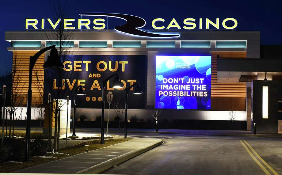 Exterior of Rivers Casino & Resort on Thursday night, Feb. 2, 2017, in Schenectady, N.Y. (Lori Van Buren / Times Union) Photo: Lori Van Buren / 20039606A