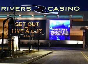 Exterior of Rivers Casino & Resort on Thursday night, Feb. 2, 2017, in Schenectady, N.Y. (Lori Van Buren / Times Union)