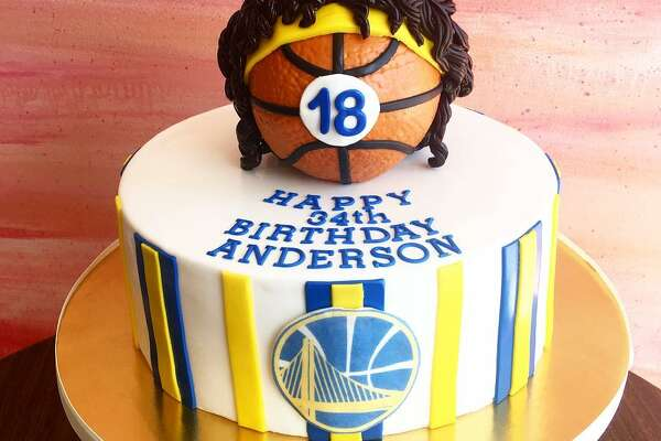A cake made for the Golden State Warriors by Pretty Please Bakeshop in San Francisco.