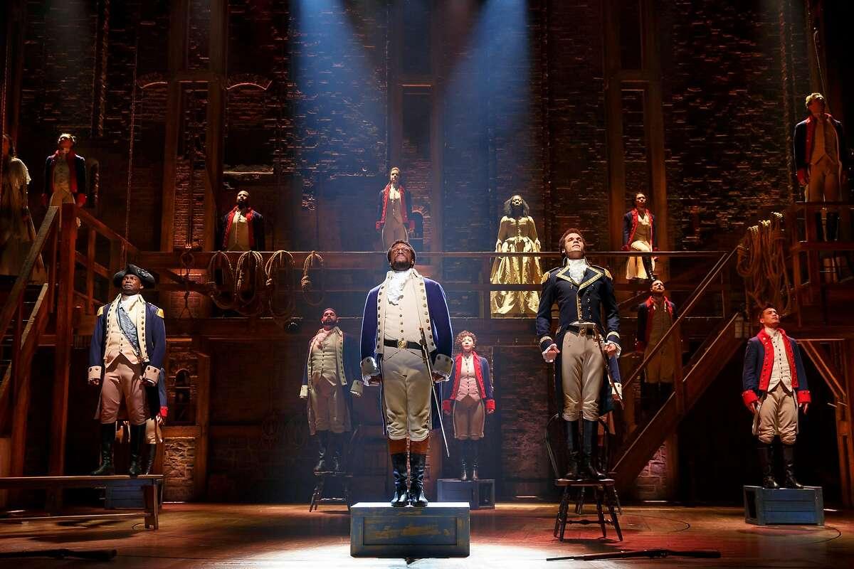 "The national touring company of ""Hamilton"" at SHN."