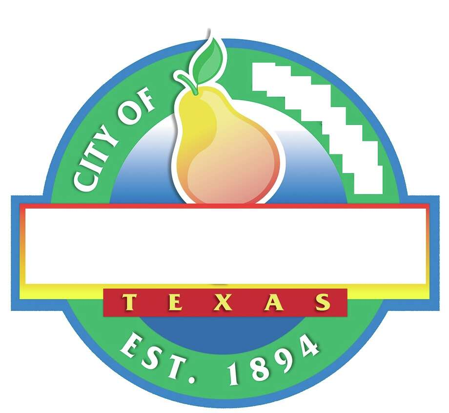 Guess the suburb logo?A distinctive fruit seen at the top of this logo gives a big clue. Photo: City Of Pearland