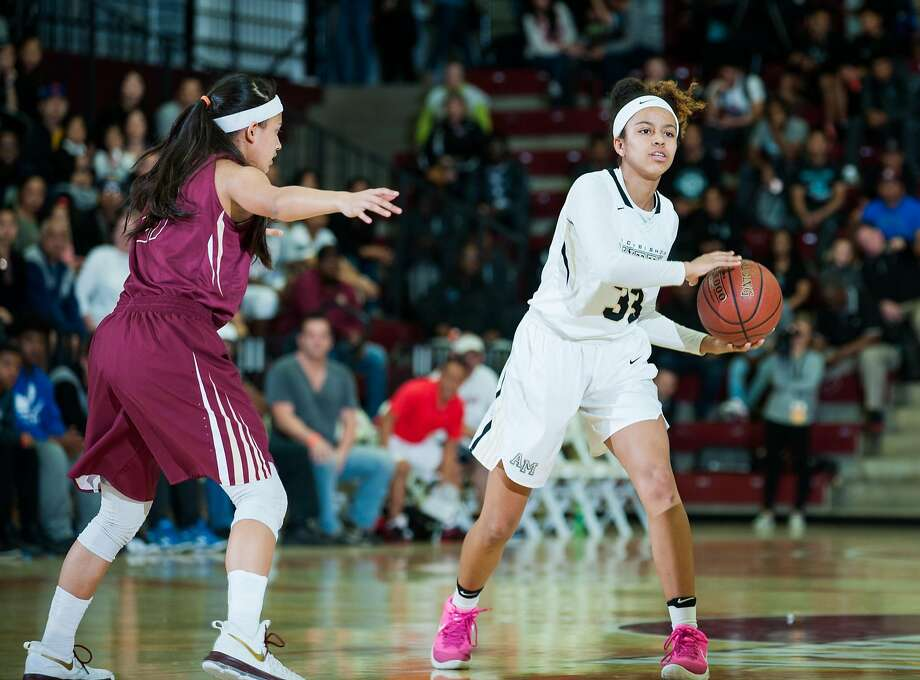 Mitty's Karisma Ortiz does it all: 9.4 points, 5 rebounds, 4.5 assists, 1.4 steals and 0.7 blocks per game. Photo: Samuel Stringer, MaxPreps