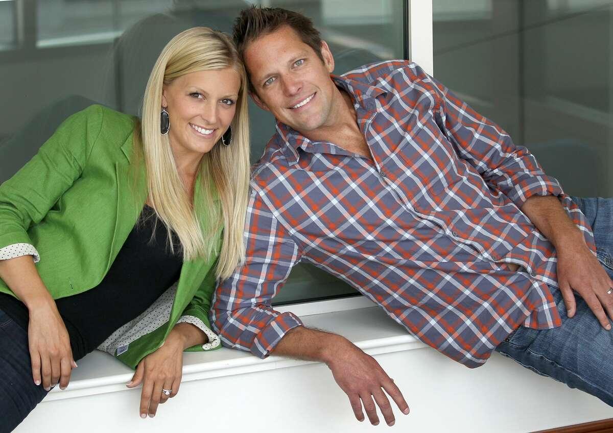 Chris Lambton and wife, Peyton Wright Kid's name: Lyla James