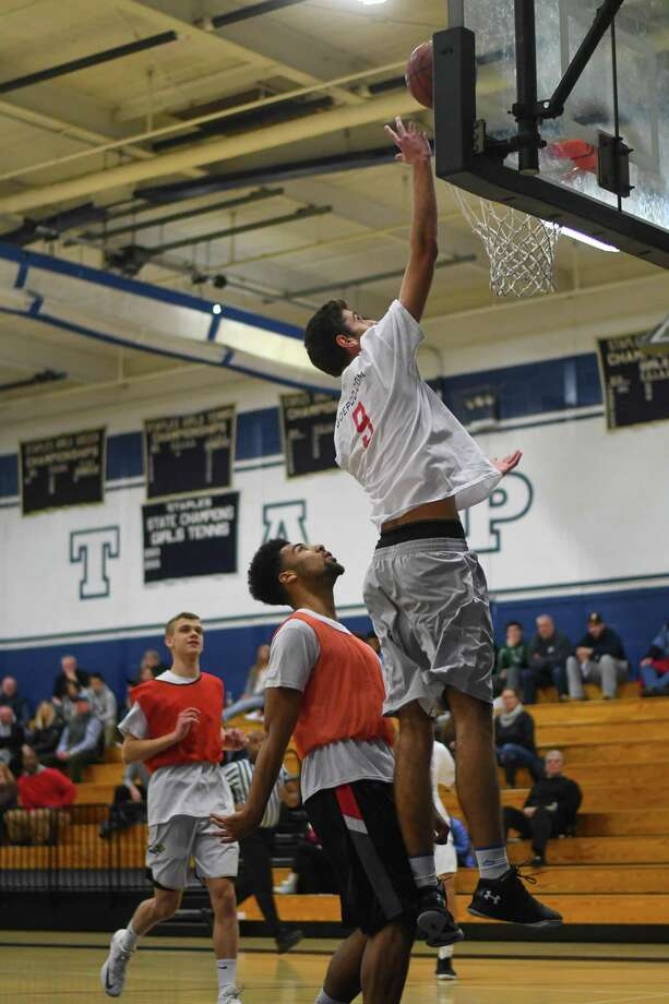 Frank Lumaj of Fairfield Ludlowe goes in for a lay up during the FCIAC All-Star Basketball Game at Staples High School on March 23, 2017 in Westport, Connecticut. Photo: Gregory Vasil, For Hearst Connecticut Media / Connecticut Post Freelance