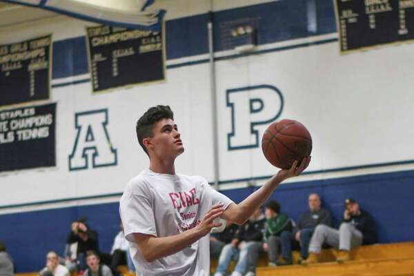 J.J Conway of Fairfield Warde goes in for a lay up during the FCIAC All-Star Basketball Game at Staples High School on March 23, 2017 in Westport, Connecticut.