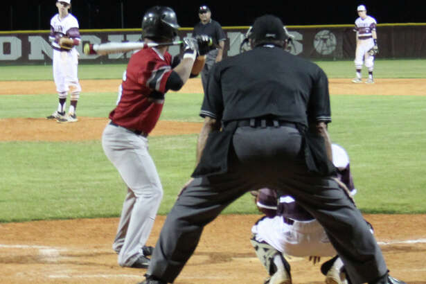 Tarkington Longhorn Nick Meekins stands ready at the mound as he faces a Diboll Lumberjack during their March 21 baseball game.