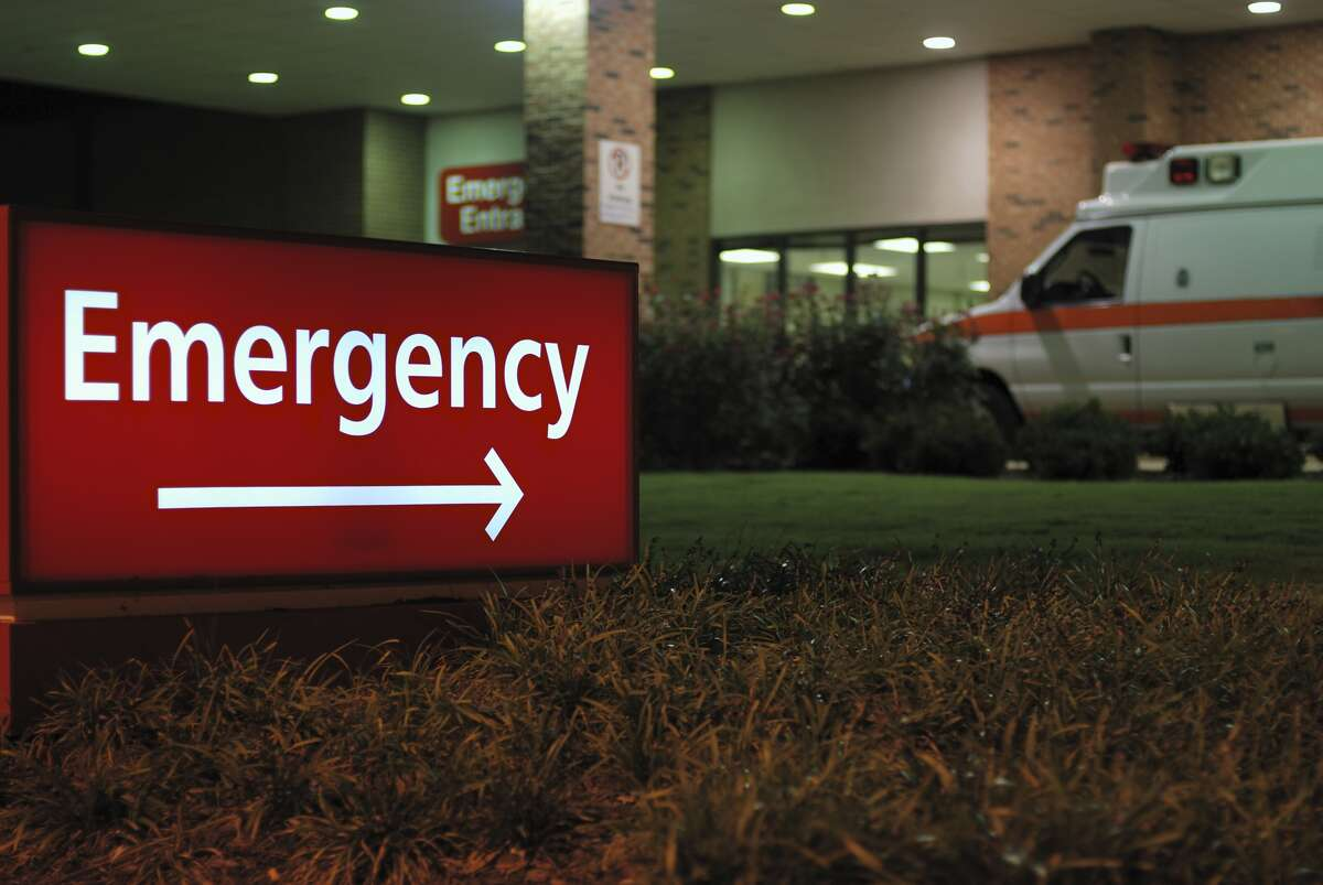An emergency room entrance is seen in a file photo.
