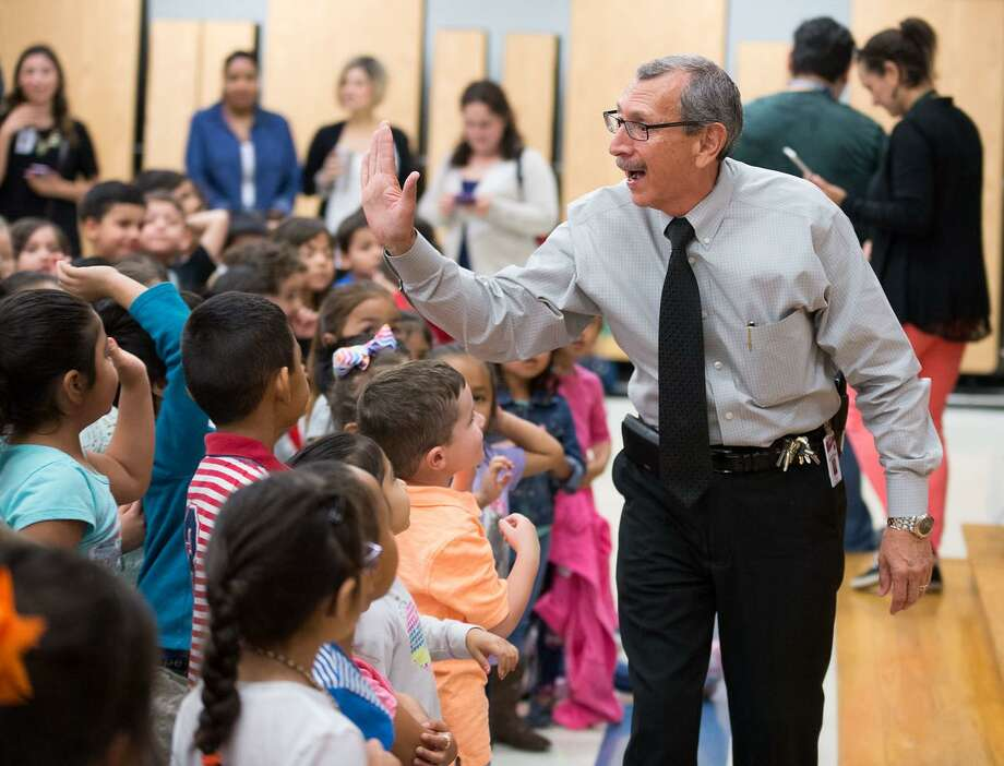 Jose Luis Rojas, principal of Elm Creek Elementary School, is a finalist in H-E-B's Excellence in Education Awards. Photo: Courtesy Photo / Darren Abate Media, LLC