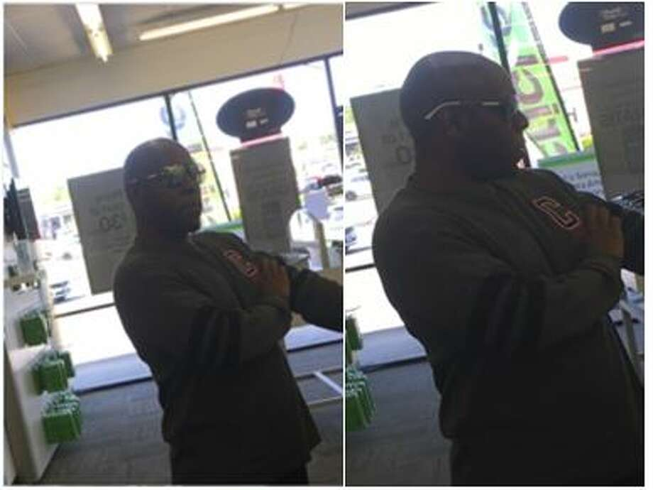The man walked into the store in the 14000 block of Nacogdoches Road on March 2, 2017, and talked to the associate about looking at some cell phones, according to police. Photo: Crime Stoppers