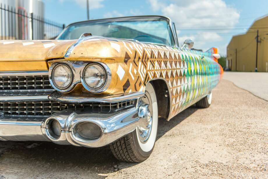 Cheech marin to ride in sweet saint arnold cadillac during next photos see cheech marins special art car ridenbspcomedian author and all sciox Choice Image