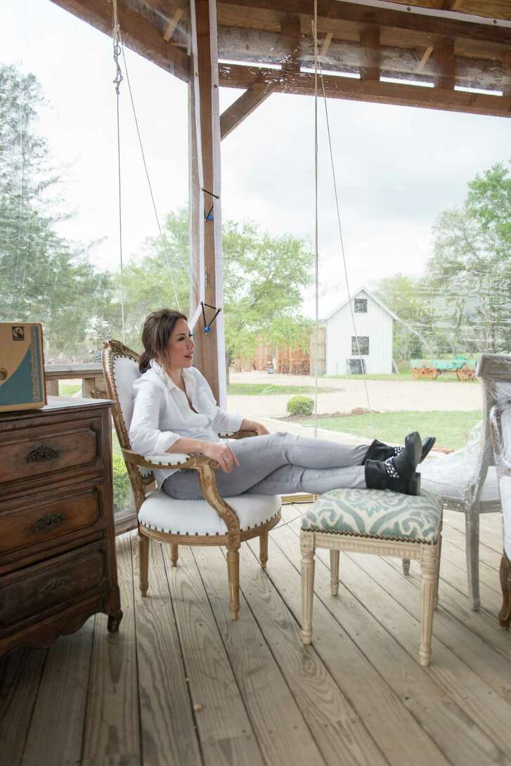 Julie Dodson of Dodson Interiors furnished the Idea Cottage with items found at The Compound.