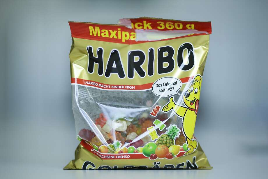 """German candy maker Haribo is accused of using suppliers that use slave labor or have cruel animal practices to make its candies. A package with Haribo gummy bears is photographed in Berlin, Germany, Friday, 24, 2017. Germany's iconic gummy bear will soon be """"Made in USA."""" Photo: Markus Schreiber, Associated Press"""