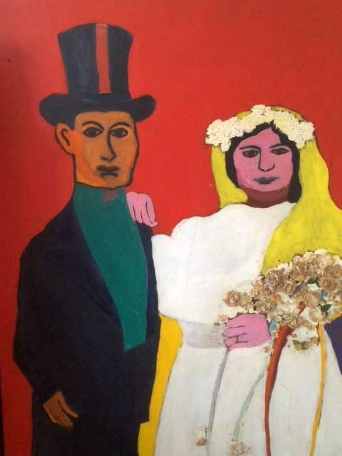 """Turn of the Century Wedding Portrait of Russian Immigrants"" an acrylic painting by Jan Yager based on a 1913 wedding portrait of my father's parents in Brooklyn, New York. My grandfather had immigrated from Russia in the early 1900s. Photo: Contributed Photo / Contributed Photo / Connecticut Post Contributed"