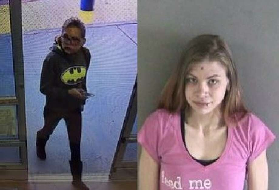 Jessica Malicoat, 23, was arrested Thursday in connection with a vehicle rampage in a Union City Walmart parking lot, captured on surveillance footage (left). Photo: Union City Police Department