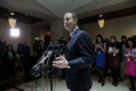 Rep. Adam Schiff, D-Calif., the ranking member of the House Intelligence Committee, speaks to reporters on Capitol Hill in Washington, Friday, March 24, 2017. (AP Photo/J. Scott Applewhite)