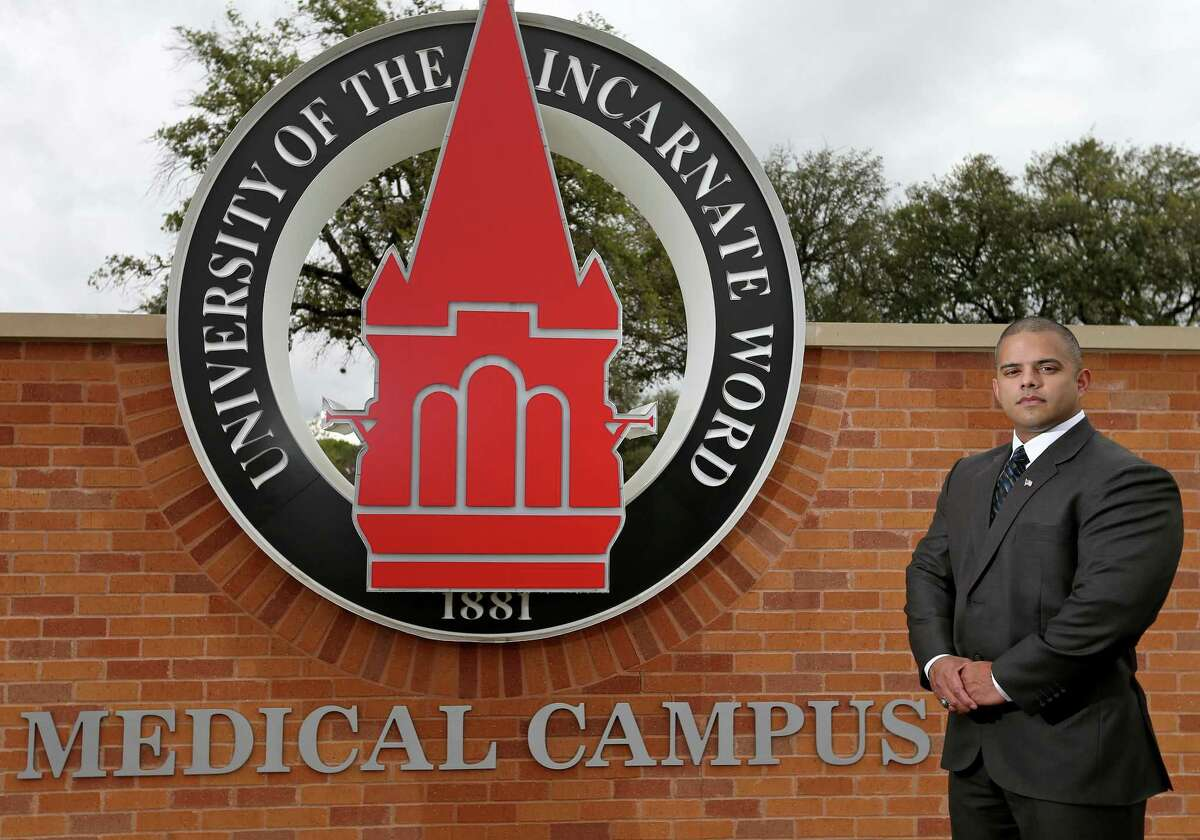 Edwin Davila, 31, will be a medical student, starting in July, at the University of the Incarnate Word's new School Of Osteopathic Medicine at Brooks City Base.