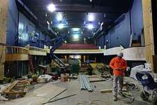 Workman labor to complete the renovated Wall Street Theatre, formerly The Globe Theater, February 7, 2017, in Norwalk, Conn. The Wall Street Theater is issuing a call to area bands and musicians interested in participating in the Theater's inaugural concert series, planned to begin summer 2017. These concerts are designed to promote awareness of the revitalized Wall Street Theater and is open to all musical genres including rock, blues, jazz, soul, R&B, alternative, reggae, funk, rap, folk, country, electronic, classical, pop, dance, and  singer/songwriter.