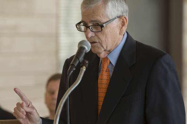Tom Craddick, Texas House of Representatives, speaks 03-24-17 about the new Engineering Department Building UTPB will soon break ground for building on the Midland Campus near the CEED Building and Wagner Noel Performing Arts Center. Tim Fischer/Reporter-Telegram