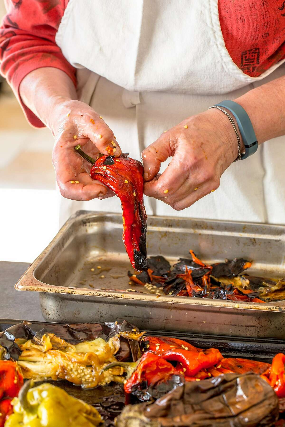 """Ajvar, a roasted pepper and eggplant spread, from """"Unforgettable: The Bold Flavors of Paula Wolfert's Renegade Life"""" by Emily Kaiser Thelin (Mortar & Pestle; 336 pages; $35)"""