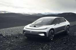 The FF91 from Faraday Future was revealed Tuesday at the Consumer Electronics Show in Las Vegas. MUST CREDIT: Handout courtesy of Faraday Future.