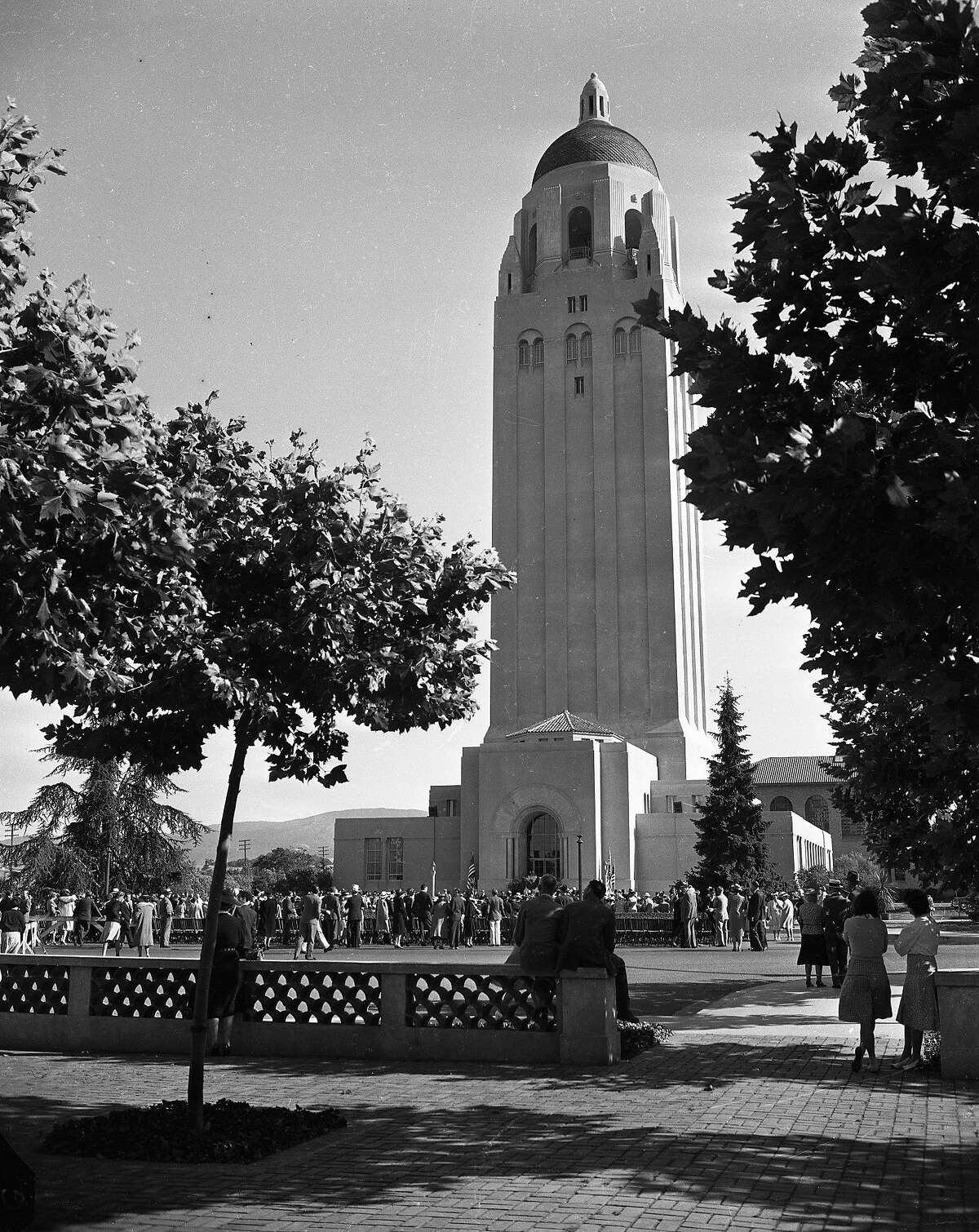 Hoover Institution Tower on the Stanford University Photos dated 07/9/1962